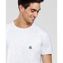 T-Shirt homme Fantôme jeux vidéo (Brodé) Col rond Blanc chiné taille S