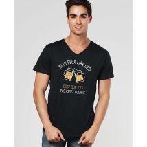 T-Shirt homme Si tu peux lire ceci Col V Noir taille XXL