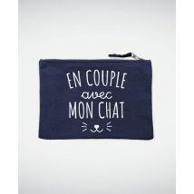 Pochette En couple avec mon chat Bleu marine taille TU