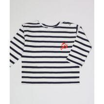 T-Shirt bébé Manches longues Homard (brodé) Marinière bleue taille 18 - 24 mois