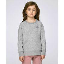 Sweatshirt enfant Vélo tricolore (brodé) Gris taille 7 - 8 ans $Monsieur T-Shirt Kids