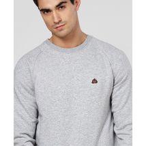 Sweatshirt homme Poop (brodé) Gris taille L
