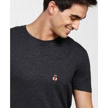 T-Shirt homme Nutelove (brodé) Col rond Noir chiné taille XL