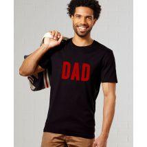 T-Shirt homme DAD (effet velours) Col rond Noir taille XL