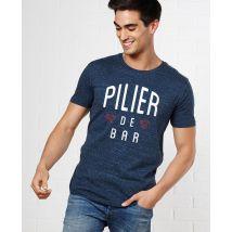 T-Shirt homme Pilier de bar Col rond Bleu Jean taille S