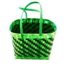 Upcycled Woven Box Strap Basket- The Big Dengu