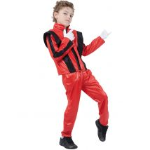 Popstar-Kostüm rot für Jungen