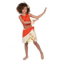 Costume hawaii corallo per bambina