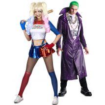 Costume di coppia da Joker ed aiutante