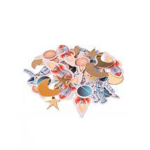 100 coriandoli da tavola universo 2 - 4 cm