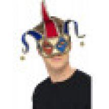 Maschera da buffone arlecchino veneziano adulto