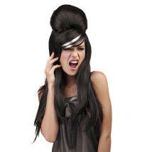 Parrucca nera da pop star per donna