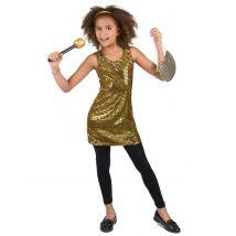 Costume oro stile disco per bambina