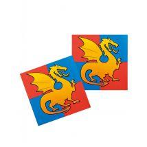 12 Tovaglioli in carta Drago medievale