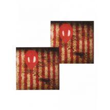 12 Tovaglioli in carta clown terrificante 33x33 cm