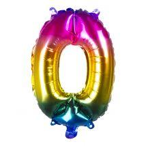 Palloncino in alluminio numero multicolor 36 cm