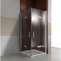 Paroi de douche avec porte pliante en verre NANO 8 mm DX213 - largeur