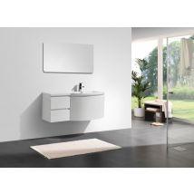 Ensemble de meubles de salle de bain LAURANCE 1200, blanc brillant - f