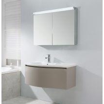Ensemble pour la salle de bain LENA 1000 taupe mat - miroir en option