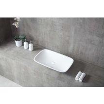 Vasque à poser TWA06 en fonte minérale (Pure Acrylic) - Haute brilla