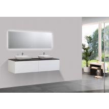 Ensemble de meubles de salle de bain Spring 1500 blanc mat - meuble m
