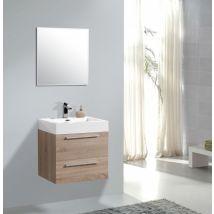Ensemble salle de bain M600 couleur chêne clair/chêne blanchi - Miro