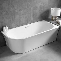 Baignoire gain de place NOVA CORNER en acrylique sanitaire blanc - in