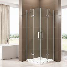 Paroi porte de douche pivotante pour montage en angle EX809 - en verr