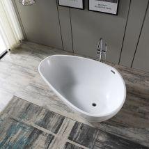 Baignoire îlot VENETO en acrylique sanitaire blanc ou noir/blanc - br