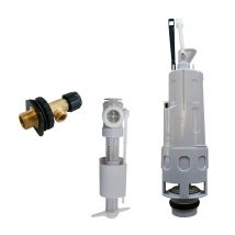 Kit de remplacement pour cloche de siphon double touche - 3 pièces -