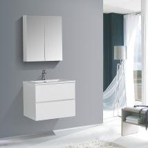 Mobile bagno EDGE 650 - disponibile in diversi colori - armadietto a specchio e colonna sospesa opzionale