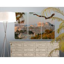 Selbstklebendes Wandbild Akropolis Triptychon I