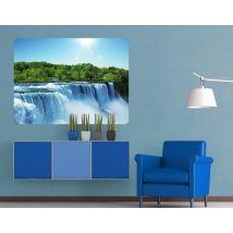 Selbstklebendes Wandbild Wasserfalllandschaft