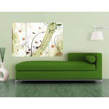 Selbstklebendes Wandbild Frühlingszeit Triptychon II