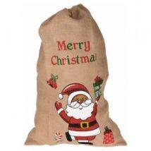 Sac cadeau en tissu Merry christmas Rouge
