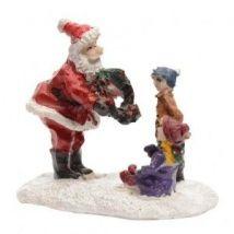 Figurine enfant et Père Noël