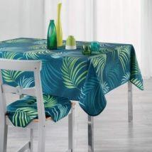 Rechthoekig Tafelkleed (L240 cm) Blue Vegetal Blauw