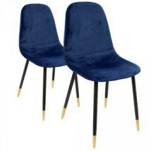 Lot de 2 chaises Hayden Bleu