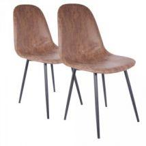 Lot de 2 chaises Brooklyn Marron