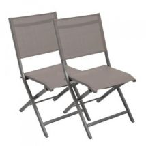Lot de 2 chaises pliantes Brevia - Anthracite