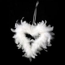 Corazón pluma Plummy Blanco