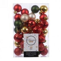 Kit de décoration de sapin de Noël Odilon Rouge