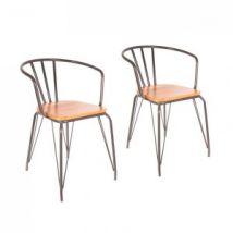 Lot de 2 fauteuils Orme Gris