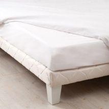 Drap housse coton supérieur (200 cm) Félicie Blanc