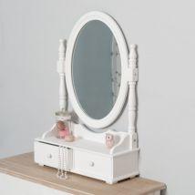 Miroir range-bijoux Eva Blanc