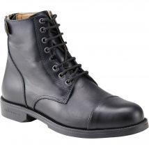 Fouganza - Boots À Lacets Équitation Adulte Paddock 560 Cuir Noir - 40