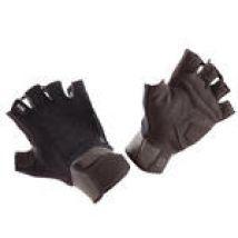 Domyos Trainingshandschoenen 500 met klittenband polssluiting zwart kaki