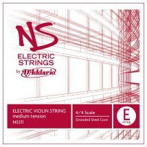 DAddario NS Electric ViolinE String 4/4 Size Medium