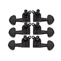 Guitarworks Tuning Machines 3-A-Side Kidney Keys Black