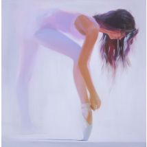 "Ballerina painting ""White"", 100x100cm"